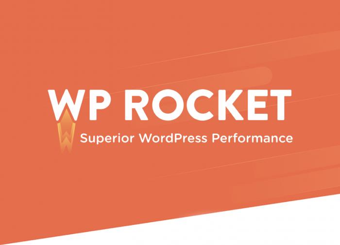 Orange and White Logo for WP Rocket