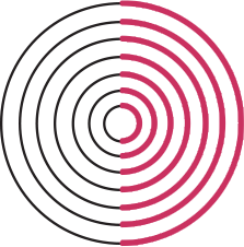 Branding Icon - Concentric circles in black and red