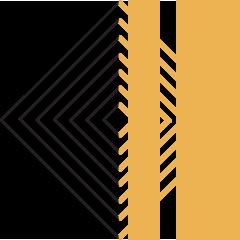 Web Icon - Concentric diamonds in black and yellow